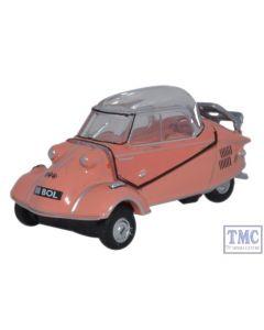 76MBC003 Oxford Diecast 1:76 Scale Messerschmitt KR200 Bubble Top Rose Messerschmitt Bubble Car