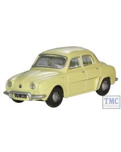 76RD002 Oxford Diecast Renault Dauphine Yellow 1/76 Scale OO Gauge