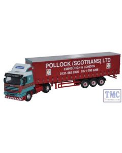 76S143001 Oxford Diecast 1:76 Scale Scania 143 40ft Curtainside Pollock
