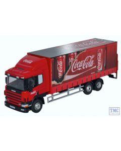 76S94004CC Oxford Diecast OO Gauge Scania 94D 6 Wheel Curtainside Coca Cola