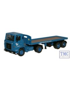 76SC110001 Oxford Diecast Scania 110 Flatbed BRS 1/76 Scale OO Gauge