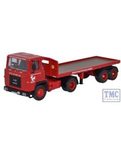 76SC110002 Oxford Diecast 1:76 Scale Scania 110 Flatbed Trailer BRS