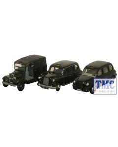 76SET09 Oxford Diecast Triple Taxi 1/76 Scale OO Gauge