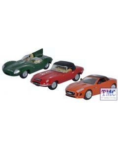 76SET48 Oxford Diecast 1:76 Scale OO Gauge 3 Piece Jaguar Set