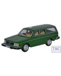 76VE001 Oxford Diecast Volvo 245 Estate Green 1/76 Scale OO Gauge