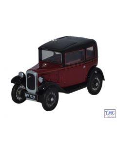 76ASS003 Oxford Diecast 1:76 Scale Austin Seven RN Saloon Maroon