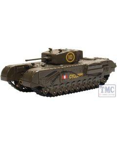 76CHT005 Oxford Diecast OO Gauge Churchill Tank 51st RTR UK 1942