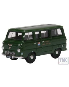 76FDE016 Oxford Diecast 1:76 Scale OO Gauge Ford 400E Minibus London Fire Brigade (Green)