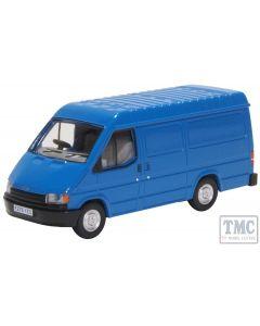 76FT3009 Oxford Diecast 1/76 Scale OO Gauge Ford Transit MK3 Gentian Blue