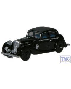 76JSS002 Oxford Diecast OO Gauge Jaguar 2.5 Litre Saloon Black SS