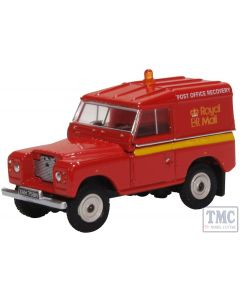 76LR2AS002 Oxford Diecast OO Gauge Land Rover Series IIa SWB Hard Top Royal Mail PO Recovery