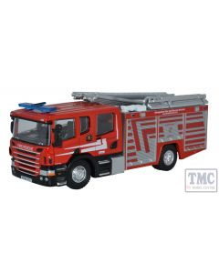 76SFE010 Oxford Diecast OO Gauge Scania CP31 Pump Ladder Shropshire Fire & Rescue