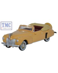 87LC41004 Oxford Diecast Lincoln Continental 1941 Rockingham Tan 1/87 Scale HO Gauge