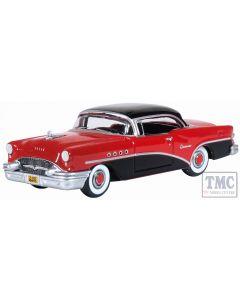 87BC55006 Oxford Diecast  Buick Century 1955 Carlsbad Black/Cherokee Red