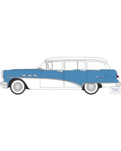 87BCE54001 Oxford Diecast HO Gauge 1:87 Scale Buick Century Estate Wagon 1954 Ranier Blue/Arctic White