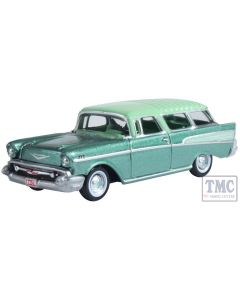 87CN57006 Oxford Diecast 1:76 Scale Surf Green/Highland Green Chevrolet Nomad 1957