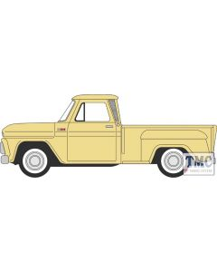 87CP65007 Oxford Diecast  Chevrolet Stepside Pick Up 1965 Yellow