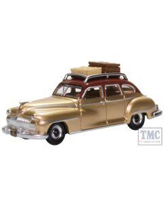 87DS46003 Oxford Diecast HO Gauge Desoto Suburban 1946 Rhythm Brown/Trumpet Gold