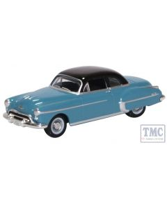 87OR50002 Oxford Diecast HO Gauge Oldsmobile Rocket 88 Coupe 1950 Crest Blue/Black