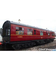HEL9100 Heljan O Gauge 50ft Inspection Saloon LMS Lined Crimson Black Ends