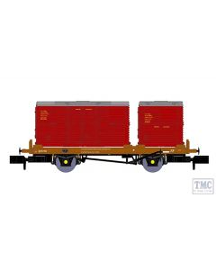 921005 Rapido Trains N Gauge BR 'Conflat P' No. B933182 (with crimson containers)