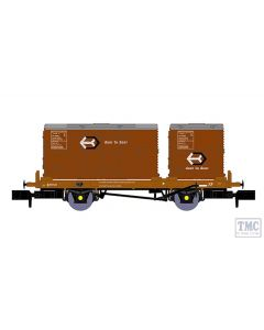 921013 Rapido Trains N Gauge BR 'Conflat P' No. B933648 (with bauxite containers)