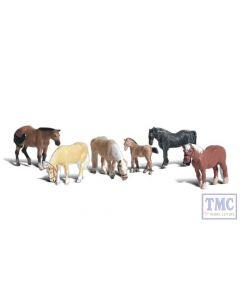 A2141 Woodland Scenics N Gauge Farm Horses