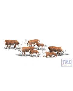 A2144 Woodland Scenics N Gauge Hereford Cows