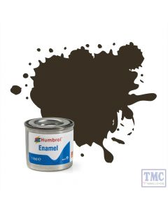 AA0117 Humbrol Enamel Paint Tinlet No 10 Service Brown - Gloss - (14ml)