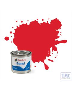 AA0206 Humbrol Enamel Paint Tinlet No 19 Bright Red - Gloss - (14ml)