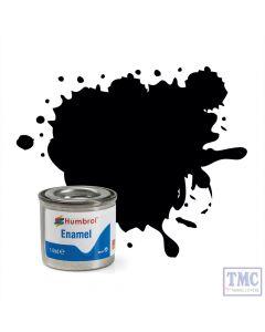 AA0360 Humbrol Enamel Paint Tinlet No 33 Black - Matt - (14ml)