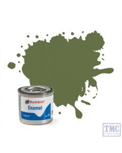 AA0881 Humbrol Enamel Paint Tinlet No 80 Grass Green - Matt - (14ml)