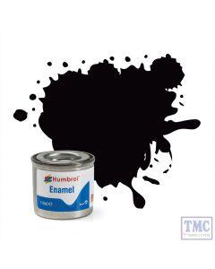 AA0936 Humbrol Enamel Paint Tinlet No 85 Coal Black - Satin - Tinlet No 1 (14ml)