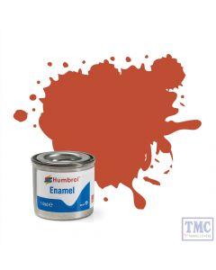 AA1105 Humbrol Enamel Paint Tinlet No 100 Red Brown - Matt - Tinlet No 1 (14ml)