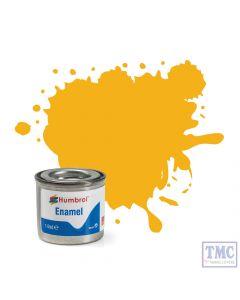AA1674 Humbrol Enamel Paint Tinlet No 154 Insignia Yellow - Matt - Tinlet No 1 (14ml)