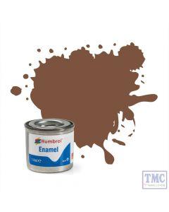 AA6224 Humbrol Enamel Paint Tinlet No 186 Brown - Matt - Tinlet No 1 (14ml)