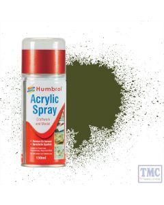 AD6155 Humbrol No 155 Olive Drab Matt Acrylic Hobby Sprays 150ml