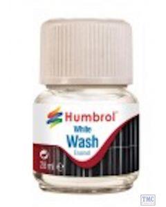 AV0202 Humbrol 28ml Enamel Wash White