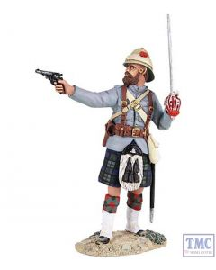 B27059 W.Britain British 42nd Highlander Officer Firing Pistol War Along the Nile Collection