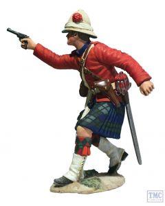 B27066 W.Britain 42nd Highlander Company Officer Firing Pistol War Along the Nile