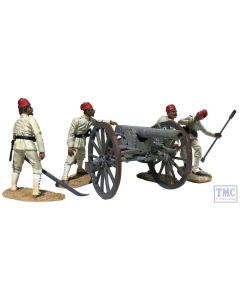 B27078 W.Britain Krupp Gun - 5 Piece Set War Along the Nile
