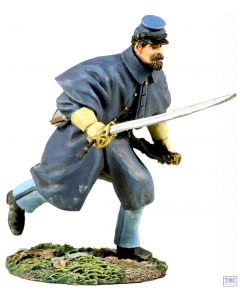 B31154 W.Britain Union Infantry in Overcoat Officer Charging No.1