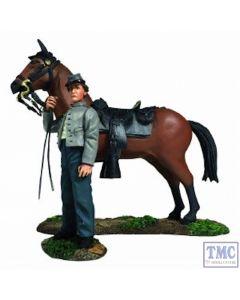 B31270 W.Britain Confederate Orderly Holding Horse 2 Piece Set - American Civil War