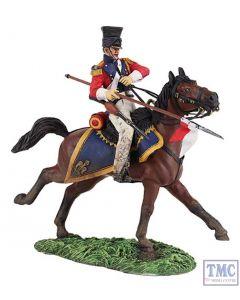 B36148 W.Britain Dutch Lancer Charging 1 Napoleonic Collection
