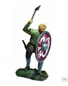 B62121 W.Britain Viking Pushing with Shield (Gostav) - Wrath of the Northmen