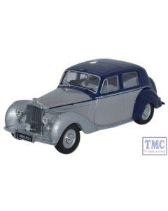 BN6004 Oxford Diecast 1:43 Scale O Gauge Bentley MkVI Midnight Blue_Shell Grey