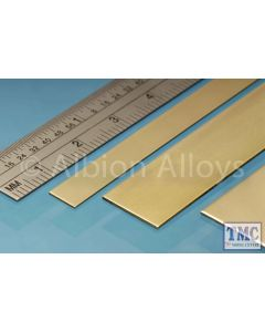 BS4M Albion Alloys Brass Strip 6 x 0.6 mm 4 Pack