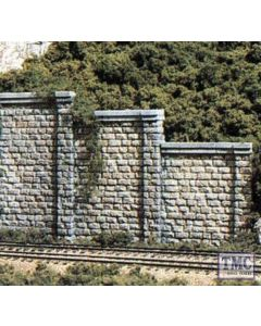 C1159 Woodland Scenics N Cut Stone Retaining Wall Concrete (x6)