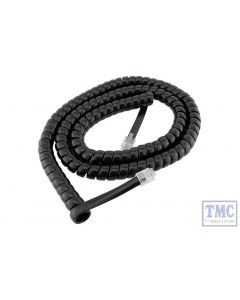 DCD-ACL DCC Concepts N/HO/OO/O/G Scale Cobalt Alpha 6ft 6 Wire RJ12 Curly Cord