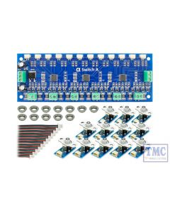 DCD-ASB DCC Concepts / Scale Cobalt Alpha Switch A Set Analogue (12 x Blue)